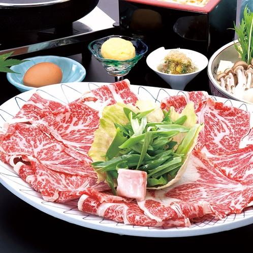 【割烹 楽水】黒毛和牛すき焼き鍋(※写真はイメージです)