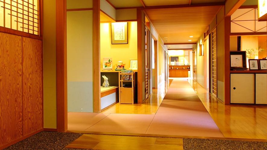 館内は全て畳廊下です