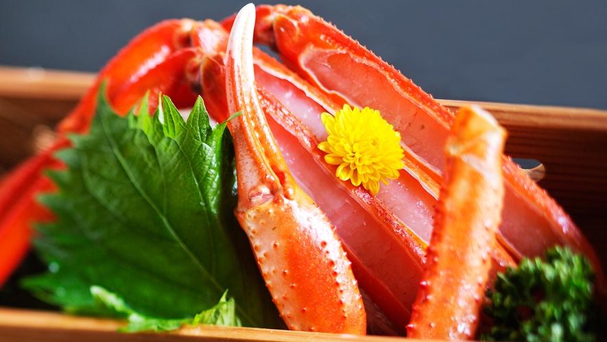 【紅蟹の蟹刺し】