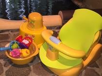 お風呂で使えるバスチェア。2歳児までご利用いただけます。