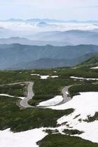 初夏 乗鞍エコーライン大雪渓付近 縦