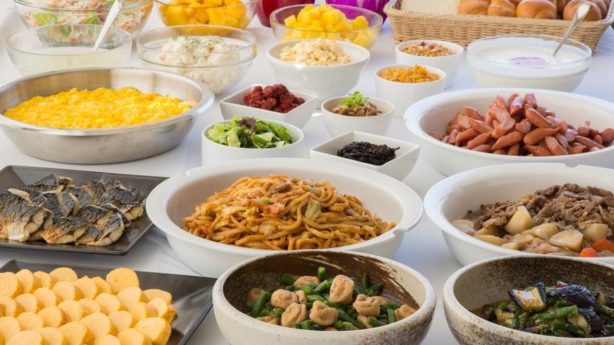 朝食 和洋のメニューが楽しめる無料朝食「エコモニ」