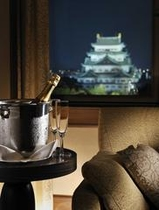 客室から眺める名古屋城(イメージ)