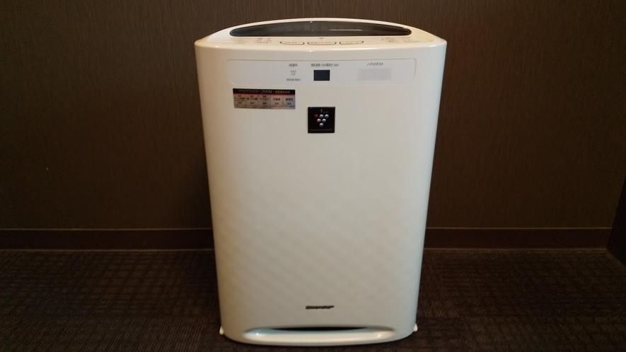 全室加湿機能付き空気清浄機を完備しております
