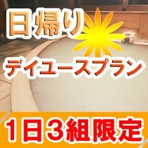 源泉100%掛け流し白濁天然温泉に浸かって、お部屋で休憩できます。日帰り温泉入浴と個室利用OK!