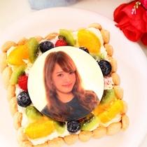 大切な方と特別な記念日を・・・写真付きケーキでお祝い♪