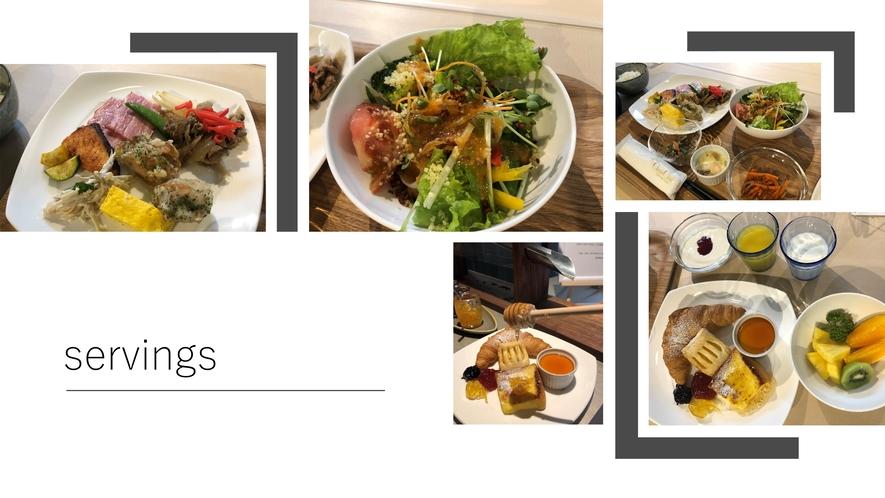 【朝食ビュッフェ】盛り付け例