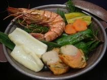 新鮮魚介の陶板焼き *写真はイメージです