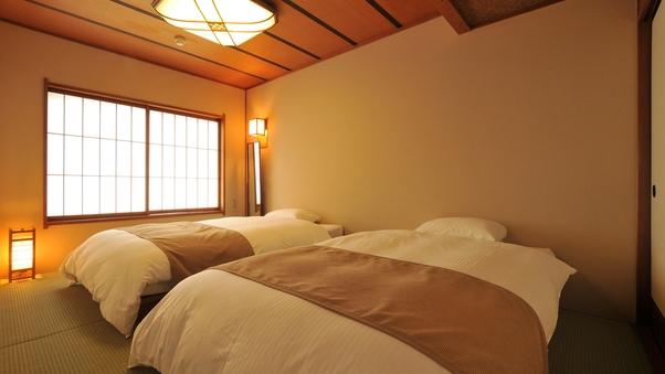 【オーシャンビュー和室】17.5畳にベッド2台配置
