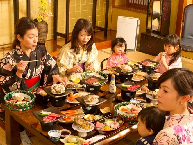 ママ・パパ・ばーば・じーじも安心・お食事は完全個室でご提供
