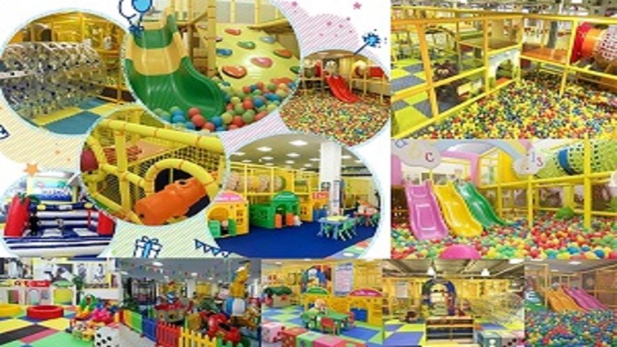 夢と遊びのパラダイス♪室内巨大遊園地・安心して遊べます