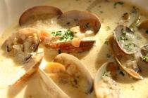 スープ:アサリのクリームスープ