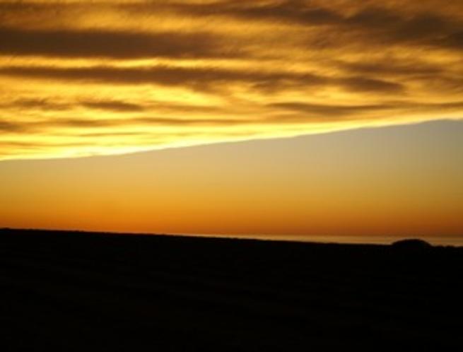 牧場の夕暮れ02