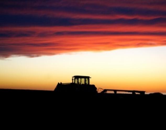 牧場の夕暮れ01