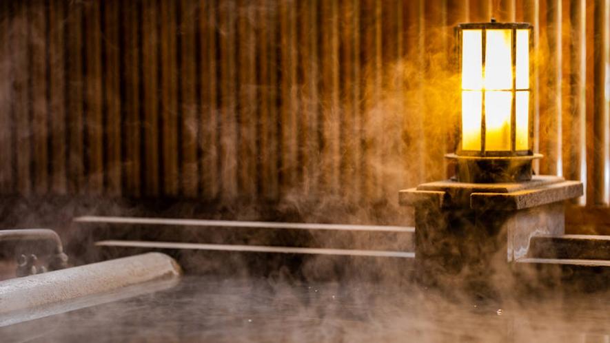 客室の露天風呂は、源泉掛け流しです。