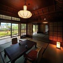 月岡ホテル自慢の客室<仙渓園 桧> 大正時代の離れを移築した伝統の客室