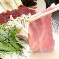 志波姫豚の豆乳しゃぶしゃぶも人気!