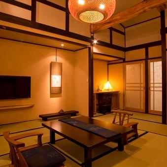 ケヤキ造りのレトロな和室(12畳)