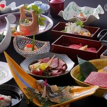 お料理の一例(飛騨牛5種食べ尽くし)会席