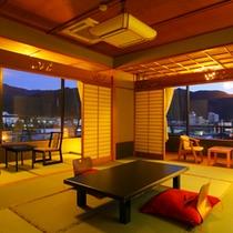 【2011年以降新装】「東の丸」リニューアル和室10畳+6畳次の間付客室(一例)