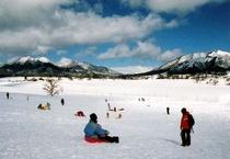 お子様が雪遊びの楽しめる三木ヶ原スノーパーク