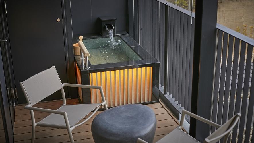 全室客室露天風呂付きの「凪の抄」※客室露天風呂は温泉ではありません