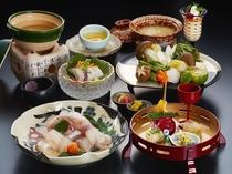 和歌山県を代表する冬の味覚「紀州梅くえ」鍋会席※料理写真はイメージです。