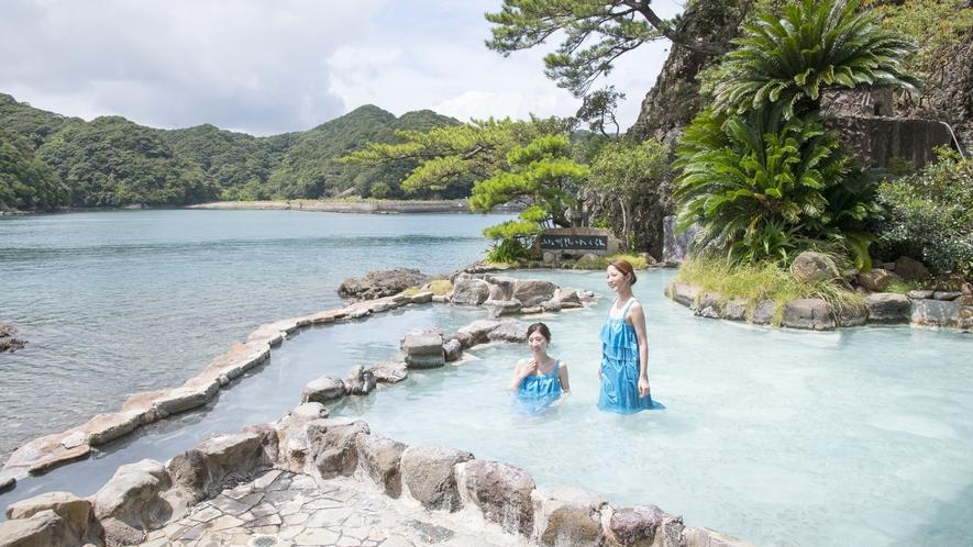 眼前に波が押し寄せる絶景露天風呂を満喫!