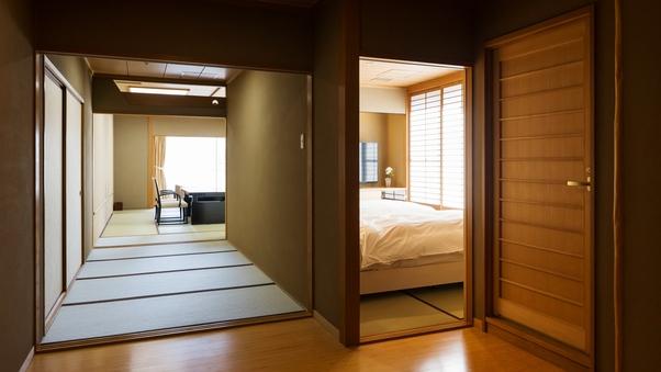 【禁煙】西6階角部屋(12畳+副室ベッド付)【R6C】