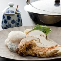 早松茸入り鱧の一人鍋