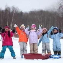 お子様も喜ぶ!スキー