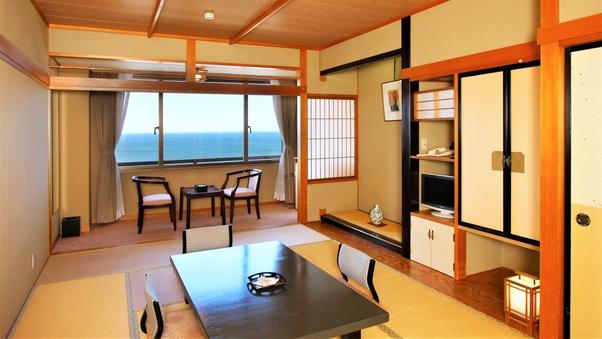 【個室会食場】:海眺めゆったり和室10〜14畳