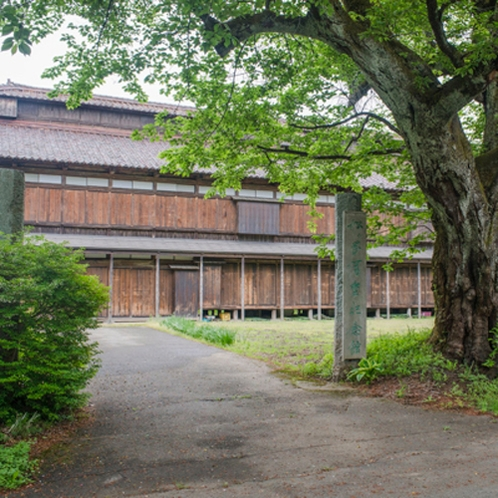 *国指定史跡 松ケ岡開墾場/国指定史跡として指定されております。当館よりお車で約35分