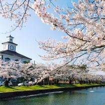 *鶴岡公園/四季折々、風情豊かな日本の風景が楽しめます。当館よりお車約25分