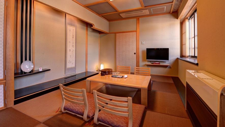 *【客室一例(和洋室)】和と洋が調和したモダンな雰囲気が人気です。