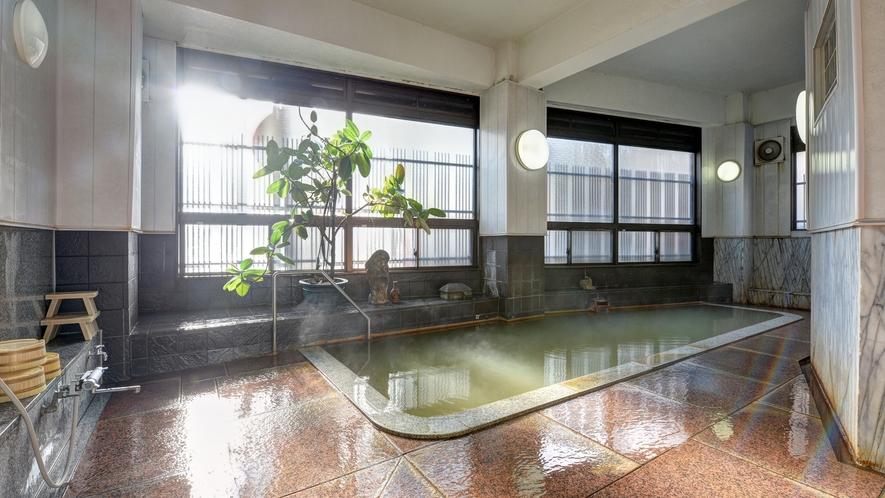 *【大浴場(女湯)】天然の保湿成分「メタケイ酸」が豊富です。