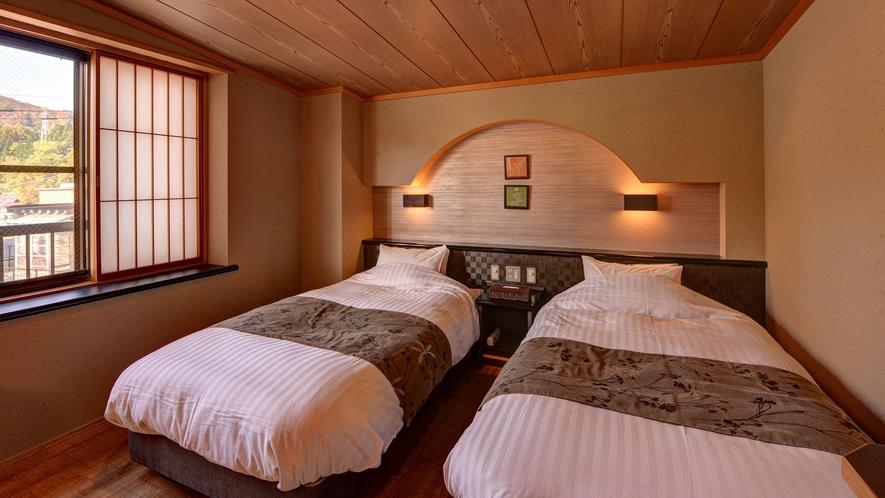 *【客室一例(和洋室)】ベッドをご希望の方は、和洋室をお選び下さい。