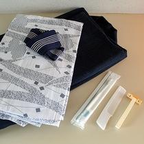 *【アメニティ】全室に浴衣、タオル、歯ブラシ一式完備。