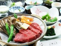 【山形牛】陶板焼き