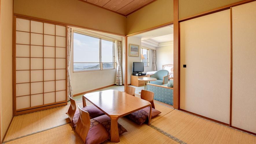 *【DX和洋室】和室は8畳の広さ。足を延ばしてお寛ぎいただけます