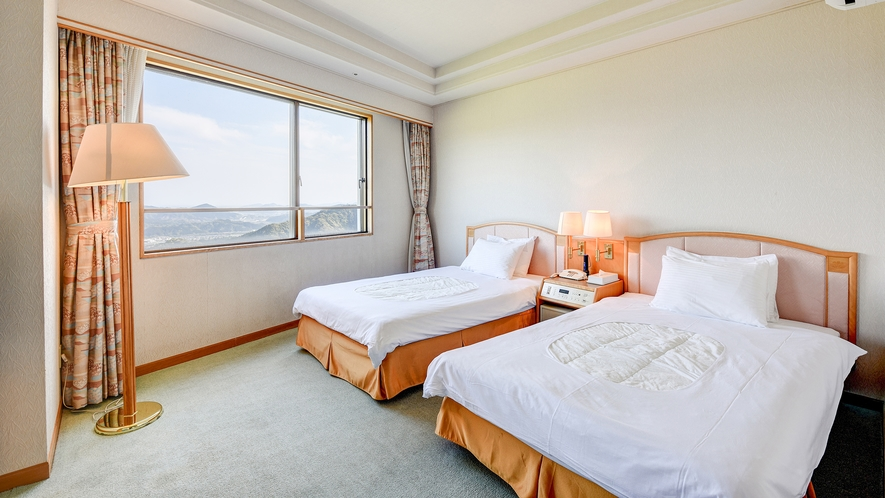 *【DX和洋室】ツインと和室6畳で広々。3世代でもご利用しやすいお部屋です