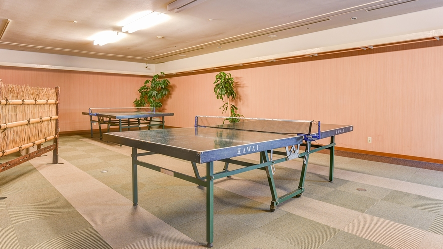 *【卓球台】温泉と卓球はセットですよね☆1時間500円にてご利用可!ラケット・ボールも貸出OK!