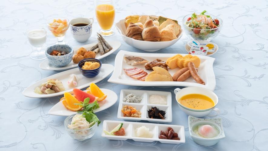 *【朝食バイキング】和食もご用意しており充実したメニューです。