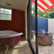 内湯と露天風呂どちらも源泉を使用しております☆