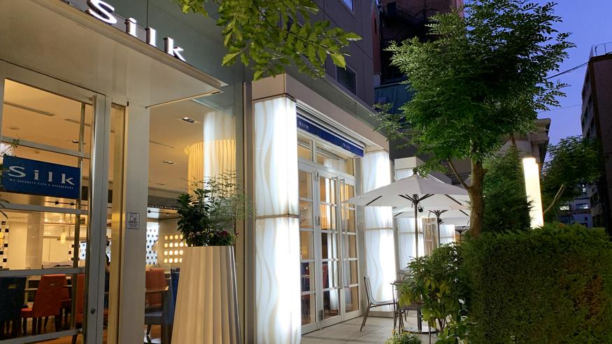 1階 カフェレストランSilk 外観