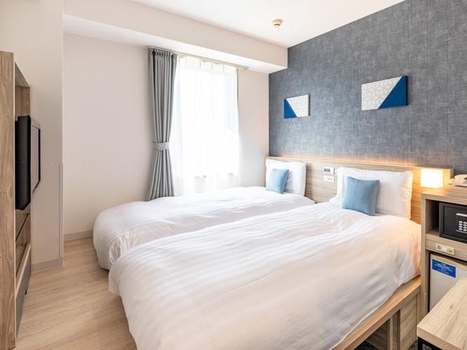 ベッド幅90cm×2台◆全室禁煙◆日本を感じられる小上がり空間◆枕元コンセント・USBコンセント◆オ