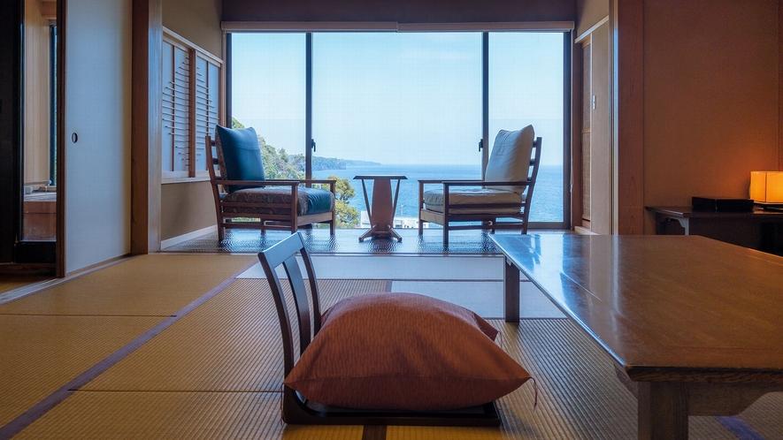 【206】ヒノキの露天風呂付き客室(和室15畳+広縁)