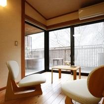 【温泉露天風呂付き和室】7.5畳一例