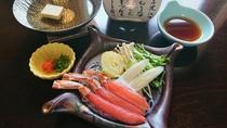 【別注料理:かにしゃぶ】一人前蟹足3本,野菜:1,870円(11/7~3/31限定)※イメージ