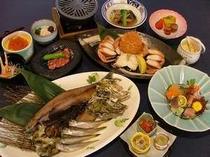 知床の食材をシンプルにかつ味覚をお楽しみいただける「北の漁場御膳